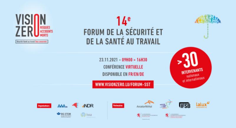 14ème Forum de la sécurité et de la santé au travail, le 23 novembre 2021